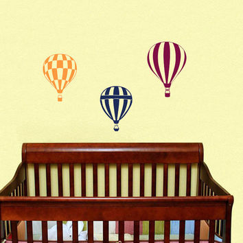Housewares Hot air Balloons Wall Vinyl Decal Sticker Kids Nursery Baby Room Decor V292