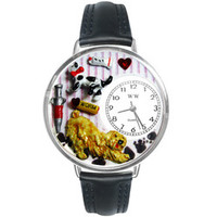 Veterinarian Watch in Silver (Large)