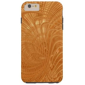 Gold Toned Abstract Curves Design iPhone 6 Case