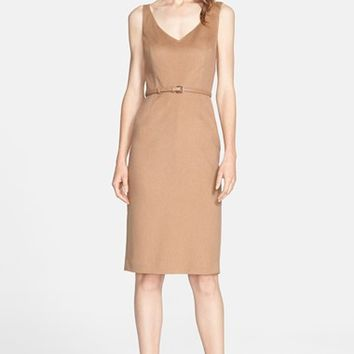 Women's Max Mara 'Alarico' Camel Hair Sheath Dress,
