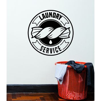 Vinyl Wall Decal Laundry Dry Cleaning Service Art Stickers Mural (g174)