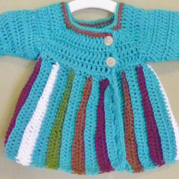 Crochet Baby Girl Sweater/Cardigan