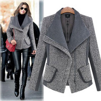 Brand Feminino 2016 Slim Fit Down winter jackets and coats Outerwear Casual Elegant Cape Women Blazers And Jackets Ladies km20