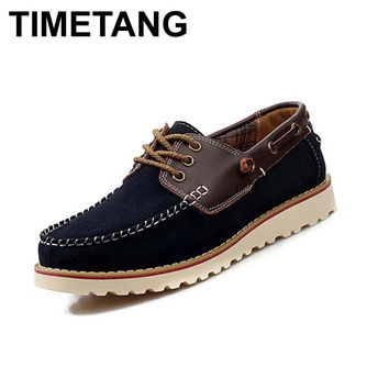 2015 New Design Sperry Shoes Men Casual Flats Fashion Spiked Boat Shoes Suede Leather Mens Autumn Sapatos Gommini Espadrilles