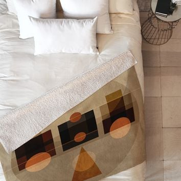 Viviana Gonzalez Geometric Abstract 2 Fleece Throw Blanket