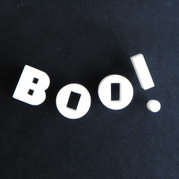 BOO - Vintage Ceramic Push Pins