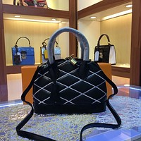 LV Louis Vuitton LEATHER ALMA HANDBAG INCLINED SHOULDER BAG