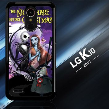 Jack And Sally Muertitos The Nightmare Before Christmas C0092 LG K10 2017 | LG K20 Plus | LG Harmony  Case