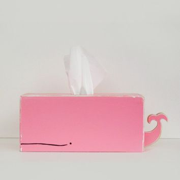 Whale Tissue Holder Pink SHIPS April 20th by gnomesweeeetgnome