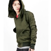Wholesale Army Green New Fashion Mens Blends Long Sleeves Korean Style Jacket M/L/XL 204SJ-f09-65agr in eFexcity