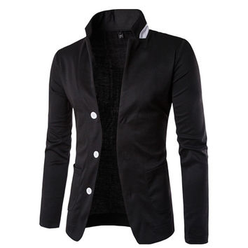 Three Button Men's Casual Blazer – Sneak Outfitters