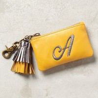 Miss Albright Tasseled Monogram Coin Pouch in Assorted Size: