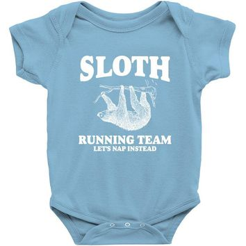 SLOTH RUNNING TEAM, LETS NAP INSTEAD Baby Onesuit