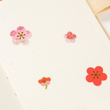 40pcs/set Plum Flower Cherry Blossoms Stationery Paper Stickers DIY Scrapbooking Wedding Album Photo Diary Book Art Decoration
