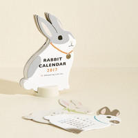 Year of the Critter 2017 Calendar in Rabbit | Mod Retro Vintage Desk Accessories | ModCloth.com