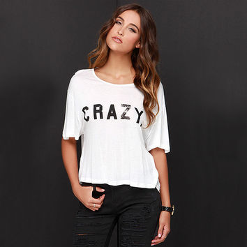 Crazy T-Shirt Open Back