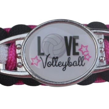 Girls Volleyball Paracord Bracelet
