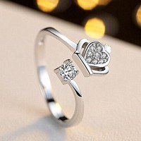 Open Silver Plated Finger Ring
