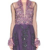 Re-Embroidered Lace Illusion Dress