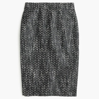 J.Crew Womens Petite No. 2 Pencil Skirt In Holographic Tweed
