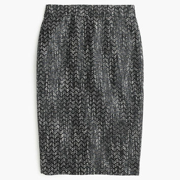 J.Crew Womens No. 2 Pencil Skirt In Holographic Tweed