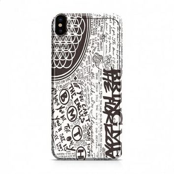 Bring Me The Horizon BMTH Collage iPhone X case