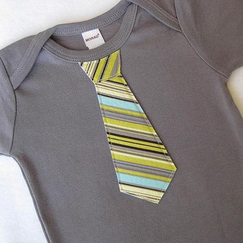 Mommy's Little Man, NEW Baby Gift - Slate Gray Baby Boy TieBodysuit, Baby Boy Wedding Outfit, Clothing, Infant, Little Brother one-piec