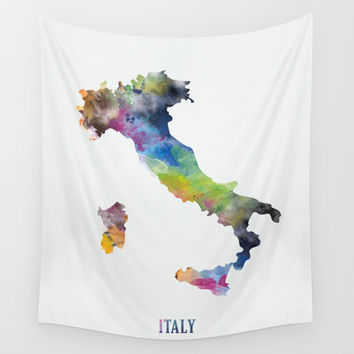 Italy Wall Tapestry by monnprint