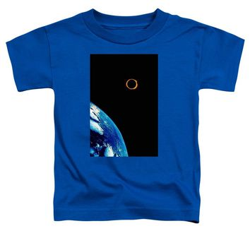 Solar Eclipse From The Space By Adam Asar 2 - Toddler T-Shirt