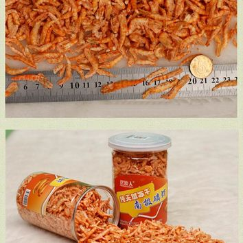 100G 660ML Dry Krill Dried Shrimp For Marine And Freshwater Aquarium Fish Food 1PC