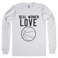 Real women love basketball-Unisex White T-Shirt