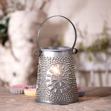 Primitive Original Wax Melter Punched Tin Electric Wax Tart Warmer-Antique Tin