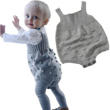 Spring Autumn Cute Baby Rompers Newborn Baby Clothes Kids Girls Boys Long Sleeve Jumpsuit Infant Knitted Rompers