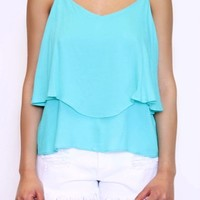 Monday Layered Tank in Mint | Tresics