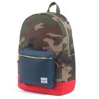 Herschel Supply Co.: Settlement Backpack - Woodland Camo / Navy / Red