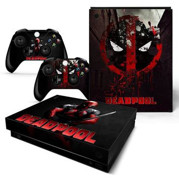 Hot Sale Deadpool Design Skin Sticker for Xbox one X Console and Controllers