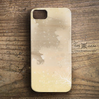 Coral iPhone 5 case - iPhone 4 case, iPhone 4s case, High quality 3D printing, Gift, Beach, sea fan - coral illustration on wood (c120)