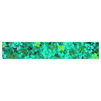 "Ebi Emporium ""Luck of the Irish"" Green Floral Table Runner"