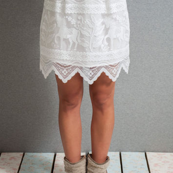 Lace mini skirt, lace a line skirt, white lace skirt, mini skirt, horses skirt