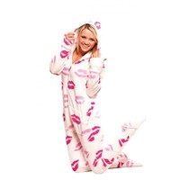 Soft Kisses Adult Footed Onesuit Pajamas