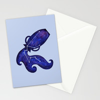 Astrological sign aquarius constellation Stationery Cards by savousepate