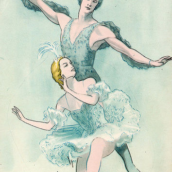 Ballet «Sleeping Beauty» (Artist V. Vlasov) Vintage Postcard - Printed in the USSR, «Artist of the RSFSR», Moscow, 1959