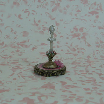 Dollhouse Miniature White Ballerina Figurine