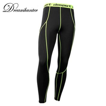 Mens Skinny Running Leggings Quick Drying Breathable Compression Fitness Basketball Leggins Workout Joggers Sweatpants