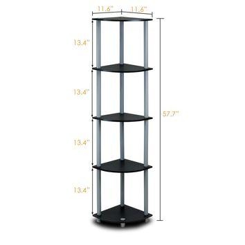 "Melanie 57"" Corner Unit Bookcase"