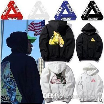 c62339f63cb5 New Arrival PALACE Hoodies Skull Printed Fleece Hoodies Triangle