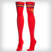 Superman Red Athletic Stripe Over the Knee Socks