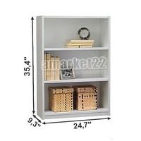 3 Shelf Bookcase Storage Furniture Bookshelf Bedroom Wood Black White Brown NEW