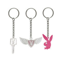 Set of 3 Playboy Charms Key Chains - PLYKEYSET2