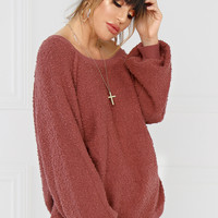 Sweet on Me Sweater - Mauve